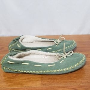 ll Bean Suede Leather Shearling Lined slippers